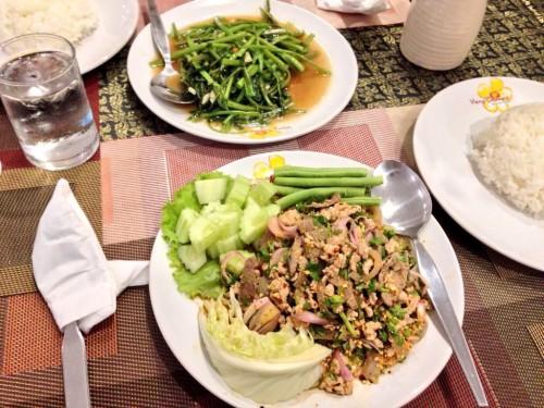 タイ大使館領事部から徒歩10分位のところにあるタイ料理屋。