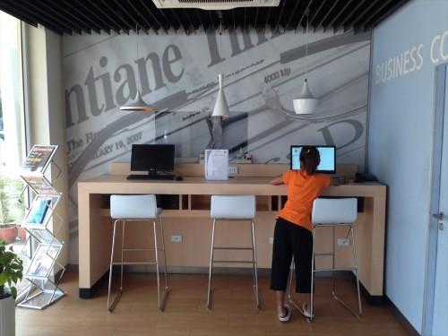 イビス ヴィエンチャン ナム プー ホテルのフロント横にあるインターネットコーナーです。