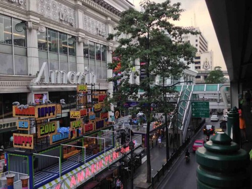 JCBプラザ ラウンジ・バンコクが入っている高級ショッピングセンター「アマリンプラザ(Amarin Plaza)」見えました。アマリンプラザの9階にJCBプラザ ラウンジ・バンコクがあります。