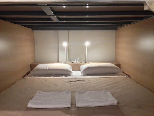 男女共用ドミトリー (Mixed Dormitory Room)のキングベッドサイズのスペース