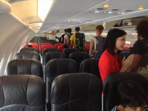 搭乗時-搭乗記-エアアジア-タイ・バンコクからラオス・ビエンチャン-直行便